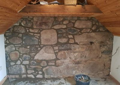 Lime pointing in progress